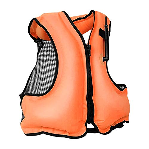 Rrtizan Inflatable Life Jacket Adult Swimming Vest for Snorkeling Suitable for 80-220 lbs