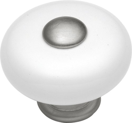 Hickory Hardware P222-SN 1-1/4-Inch Tranquility Cabinet Knob, Satin Nickel