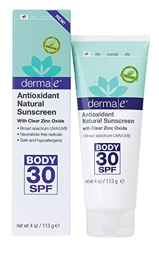 derma e Antioxidant Natural Sunscreen SPF 30 Body Lotion with Vitamin C and Green Tea 4 oz