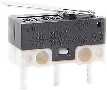 uxcell マイクロスイッチ ボタン SPDTモーメンタリ スナップアクション G1003-150P0 2A