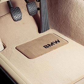 BMW Carpeted Floor Mats with BMW Lettering Heel Pad / Beige. 2007-2011 328i & 335i Sedans. - Beige Part