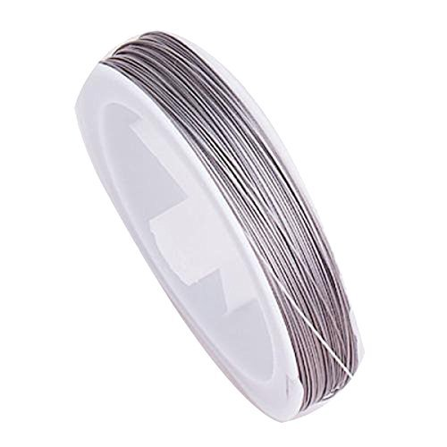Beautiful Bead 1 Roll Silver Plated Durable Nylon Beading String Wire Jewelry Cord 90m (Wire String compare prices)