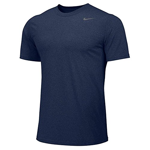 (Nike Mens Dri-FIT Short Sleeve Legend 2.0 Top - Navy - Small)
