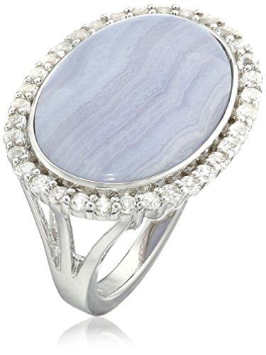 Sterling Silver Agate White Topaz