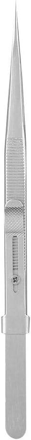 Pasamer Bijoux ajustables non magn/étiques Brucelles en diamant avec pince /à /épiler en acier inoxydable Capture Argent