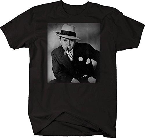 Retro - Al Capone Suit Cigar American Gangster Retro Vintage Tshirt - 4XL Black]()