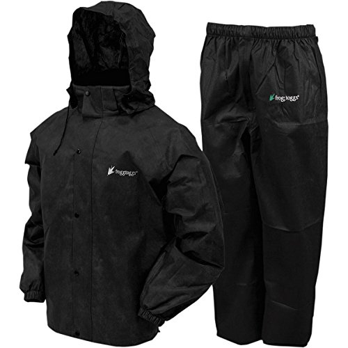 Frogg Toggs All Sports Rain Suit (Black, Large) AS131001LG by Frogg Toggs