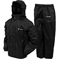 Frogg Toggs All Sports Rain Suit (Black, Large) AS131001LG