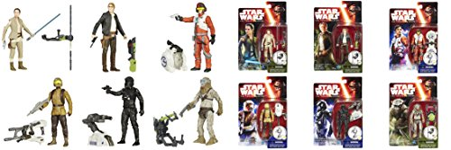 Weapon Troopers Starship (Star Wars Force Awakens 3.75-Inch 6 Figure Pack with Rey Resistance Outifit, Han Solo, Poe Dameron, Resistance Trooper, TIE Fighter Pilot & Hassk Thug)