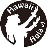 nc-smile ハワイアン ステッカー フラガール Hula Hawaii (ブラック)
