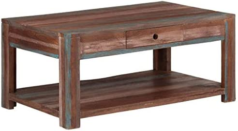 Fabrieksprijs Tidyard moderne salontafel van massief hout Vintage 88 x 50 x 38 cm kaUbyxQ