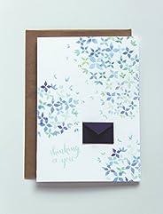 Thinking of You Watercolor Hydrangeas - Tiny Envelopes Card