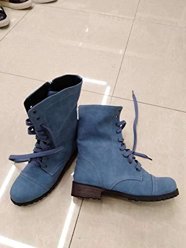 Modelos E Tubo Y Mujer Azul Botas Otoño América Invierno Europa Phy Shoe De Corto wYIfq