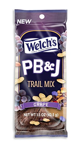 Welch's PB&J (Peanut Butter and Jelly Flavored) Trail Mix - Grape - 1.5 oz (Pack of 24) (Welch Natural Grape Jelly compare prices)