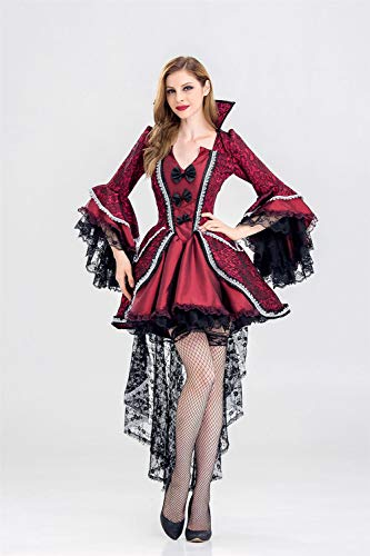 Ruanyi Ghost Festival Costume Female Vampire Zombie Costume Halloween Ghost Bride Masquerade Party Queen Dress for Women (Size : XXL)