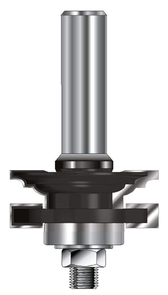 ENT 17560 Profil- und Konterprofilgarnitur Typ ''C'' HW (HM), Schaft (C) 12 mm, Durchmesser (A) 41 mm, B 16,9 mm, R 2,38 mm, E 9,5mm, D 40 mm, mit Kugellager ENT European Norm Tools