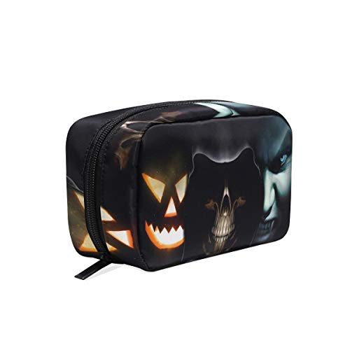 Cosmetic Bag Halloween Ghost Vampire Customized Makeup Bags Square Organizer Portable Pouch Pencil Storage Case for -