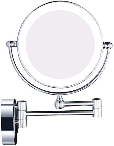 ライトウォールは360°回転Chromeで拡大鏡メイクアップミラーバニティ7倍の倍率化粧品シェービング用ミラーをマウント