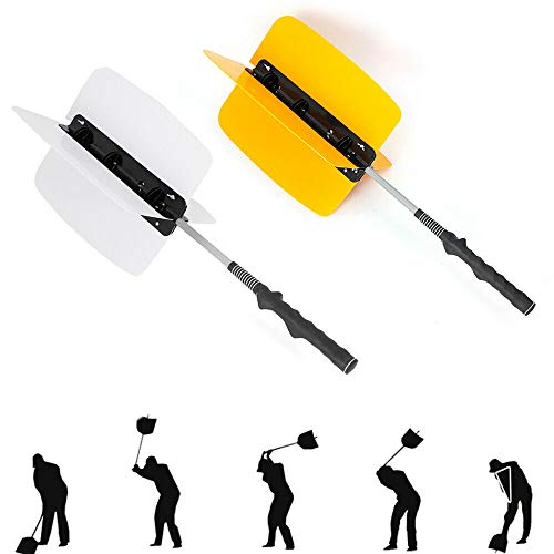 TUQI Swing Wing Golf Power Fan Resistance Speed Warm-up Trainer Golf Pinwheel Swing Training Aid Fan (Yellow)