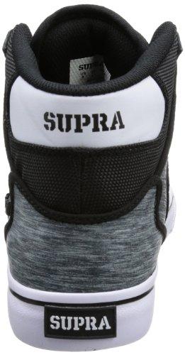 Supra VAIDER - Caña baja de material sintético hombre negro - Schwarz (BLACK / GREY - WHITE BSG)