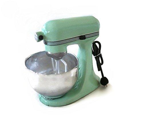 Dollhouse Miniature Accessories Light GREEN Flour Mixer Electric Kitchenware