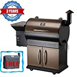 Z Grills Wood Pellet Grill & Smoker with Patio Cover,700 Cooking Area...