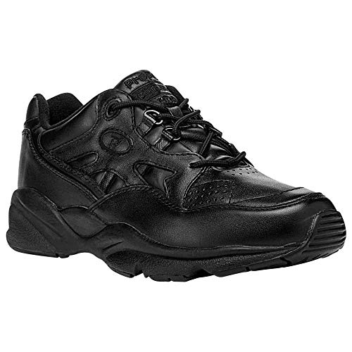 Propét Womens Stability Walker Leather Low Top Lace Up, Black, Size 11.0
