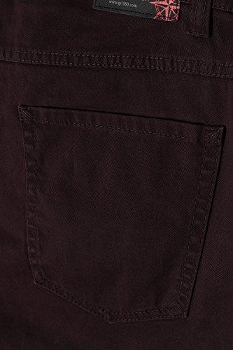 JP 1880 Homme Grandes tailles Pantalon 5 poches, imprimé bordeaux 32 706466 50-32