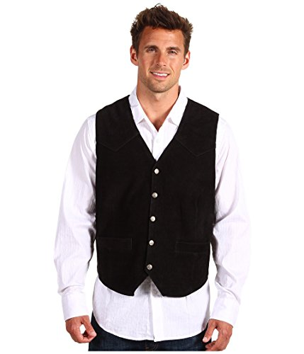 - Roper Men's Suede Vest Black XX-Large