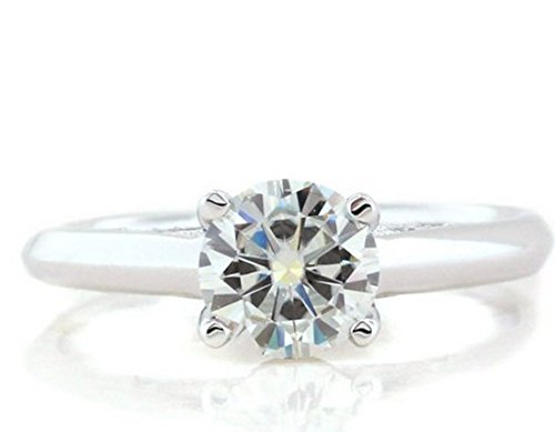 Gowe véritable 0,6CT Argent sterling 9254dents Cross Accents Lab Cultivées Esdomera moissanites Diamant Mariage Bague de fiançailles