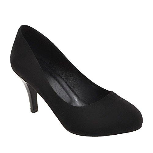 Harnas Dames Trouwfeest Mode Hoge Hakken Jurk Pumps Schoenen Zwart