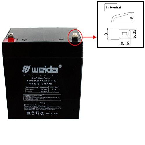 New 12V 5Ah Sla Battery Wb1250f2 Replaces Ub1250  Ps1250  Wka12 5F Usa Free Ship