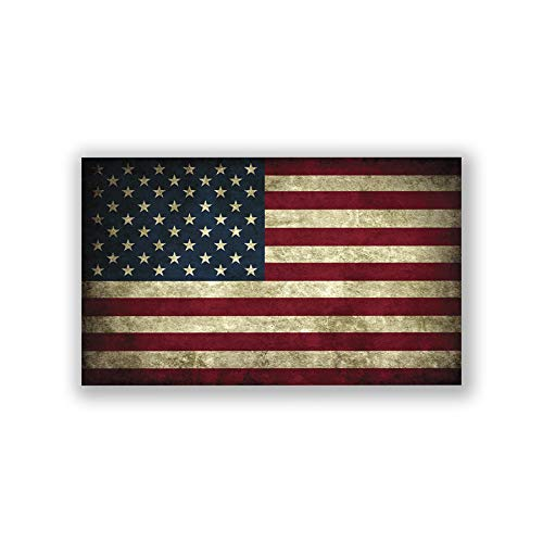 CWI NI329 Vintage-Look American Flag Decal Sticker | 5-Inch 3-Inch | Old Glory | Merica Decal | Premium Quality Vinyl Decal