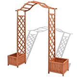 Festnight Wood Garden Arbor, Arch with Planters 70.9'' x 15.7'' x 80.7''