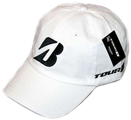 Bridgestone Golf 2019 Tour B Relax Cap Hat, Adjustable Closure, White