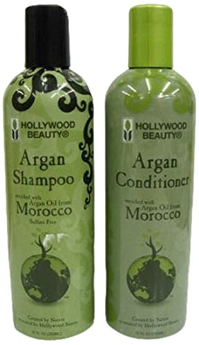 Hollywood Beauty Moroccan Argan Oil Hair Growth Shampoo and Conditioner Set 355 ml MAOHGSC