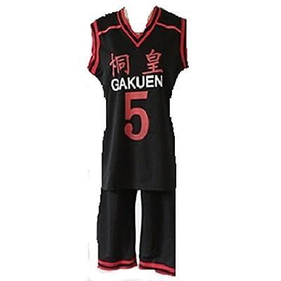 Kuroko no Basuke Aomine Daiki TOUOH Gakuen Cosplay Costume Jersey: Clothing