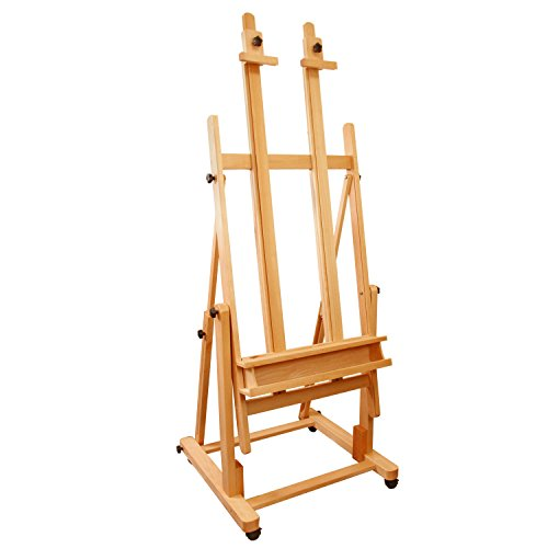 US Art Supply Extra Large Double Mast Studio Wood H-Frame Floor ()
