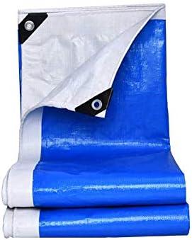 Lona de jardín Impermeable Blue Poly Tarp Sunshades Depósito a Prueba de Agua de Uso múltiple Cubierta Grande para Piscina Tienda de Carga Caminante de Carga Lona de Camping Lona de Coche: