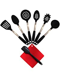 Want **SUPER SUMMER DEAL** 8 Piece Stainless Steel & Silicone Kitchen Utensil Set, Heat Resistant, BPA Free, Odor Resistant... occupation