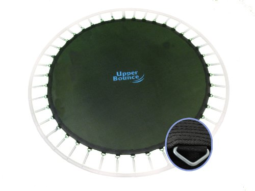 Trampoline Replacement Jumping Mat, fits for 14 FT. Round Frames with 96 V-Rings, Using 7'' springs -MAT ONLY by Upper Bounce (Image #1)
