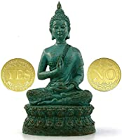 "DBassinger Antique Buddha Statue for Home Decor,7"" Thai Shakyamuni Sitting Statue Resin with Bronze Finish, Decoration..."