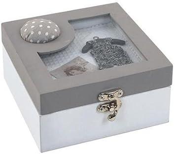 Caja Costurero Gris 15x15 cm: Amazon.es: Hogar