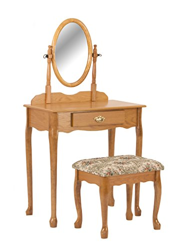 Crown Mark Vanity Set, Oak ($100 Sets Bedroom Vanity Under)