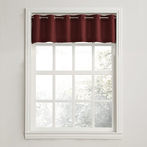 Montego Wine - No. 918 Montego Grommet Textured Kitchen Curtain Valance, 56