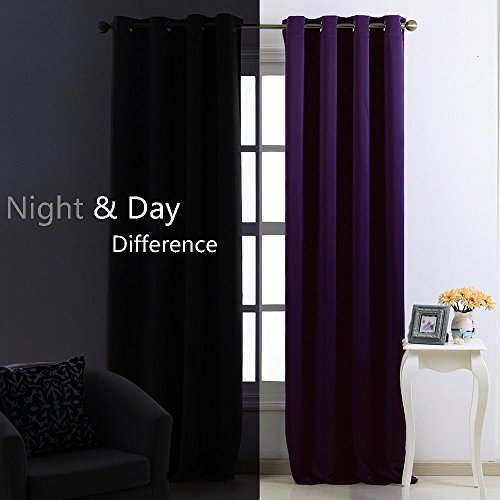 High Quality Nicetown Blackout Curtains Window Panel Drapes   (Deep Purple Color) Home  Deco Romantic Drapery