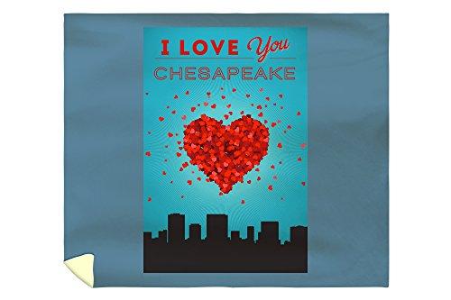 I Love You Chesapeake, Virginia (88x104 King Microfiber Duvet Cover) (Chesapeake Pottery Barn)