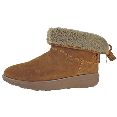FitFlop New Women's Mukluk Shorty II Boots W/Tassels Chestnut 8