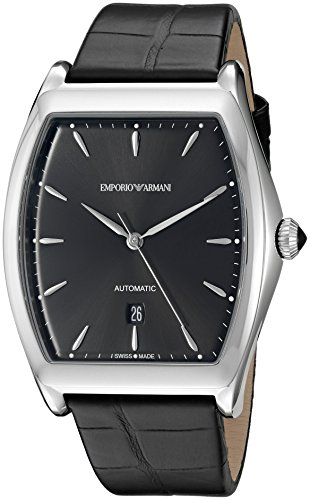 Emporio-Armani-Swiss-Made-Mens-Stainless-Steel-and-Leather-Automatic-Watch-ColorBlack-Model-ARS3700