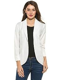 Zeagoo Womens Casual Work Office Open Front Cardigan Blazer Jacket